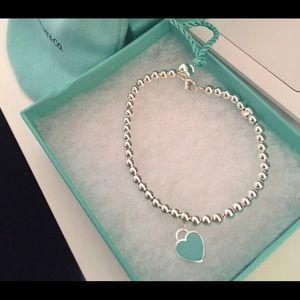 Tiffany's Silver Beaded Bracelet